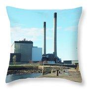 Cockenzie Power Station Throw Pillow