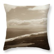 Cofete Beach Throw Pillow