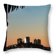 Coit Tower Twilight Throw Pillow