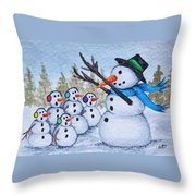 Cold Choir Throw Pillow