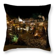 Cold Winter Night Throw Pillow