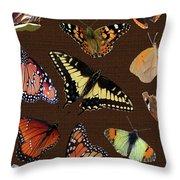 Collage Of Ca Butterflies Throw Pillow