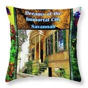 Collectible Dreaming Savannah Book Poster Throw Pillow