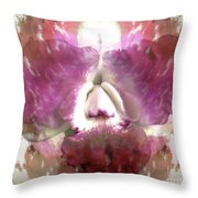 Color Hybrid Orchid Throw Pillow