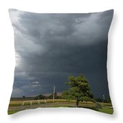 Color In The Storm Throw Pillow