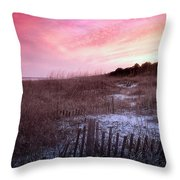 Color Over The Dunes Throw Pillow