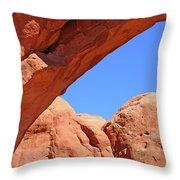 Colorado Arches, Close Up Blue Sky 3440 Throw Pillow