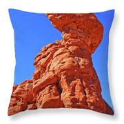 Colorado Arches Spire Scrub Dinosaur Rock? Scrub Blue Sky 3325 Throw Pillow