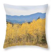 Colorado Autumn In The Mountains Throw Pillow