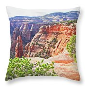Colorado National Monument Spires Rock Formations 3012 Throw Pillow
