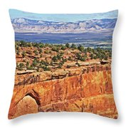Colorado National Monument Trees Rock Formations 3087 Throw Pillow