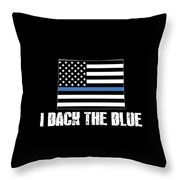 Colorado Police Appreciation Thin Blue Line I Back The Blue 2 Throw Pillow