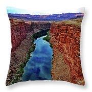 Colorado River From The Navajo Bridge 001 Throw Pillow
