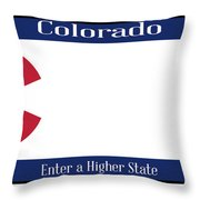 Colorado State License Plate Throw Pillow
