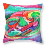 Colorful Abstraction Throw Pillow