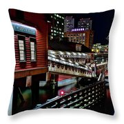 Colorful Boston Museum Throw Pillow