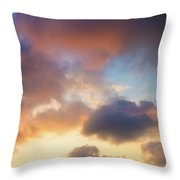 Colorful Clouds Throw Pillow