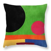 Colorful Geometric Abstract 4- Art By Linda Woods Throw Pillow