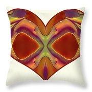 Colorful Heart - Naked Truth - Omaste Witkowski Throw Pillow by Omaste Witkowski