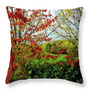 Colorful Leaves Throw Pillow