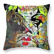 Colorful Makeup Throw Pillow