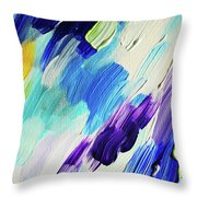 Colorful Rain Fragment 1. Abstract Painting Throw Pillow