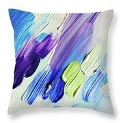 Colorful Rain Fragment 2. Abstract Painting Throw Pillow