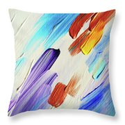 Colorful Rain Fragment 3. Abstract Painting Throw Pillow