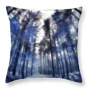 Colorful Trees Iv Throw Pillow