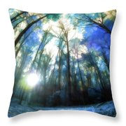 Colorful Trees Ix Throw Pillow