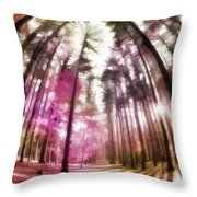 Colorful Trees V Throw Pillow