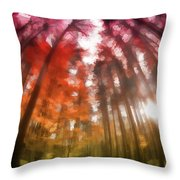 Colorful Trees Vii Throw Pillow