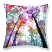 Colorful Trees Xiii Throw Pillow