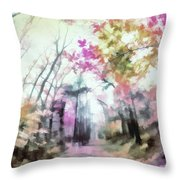 Colorful Trees Xiv Throw Pillow