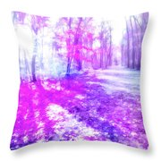 Colorful Trees Xv Throw Pillow
