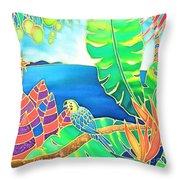 Colorful Tropics 16 Throw Pillow