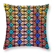 Coloured Glass Window Throw Pillow