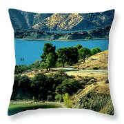 Columbia River Lakes Throw Pillow