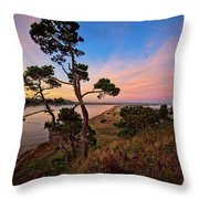 Columbia River Sunrise Throw Pillow