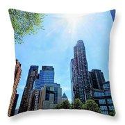 Columbus Circle At Mid Day Throw Pillow