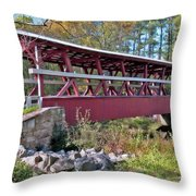 Colvin Covered Bridge Throw Pillow