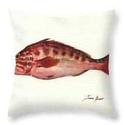Comber Fish Throw Pillow