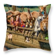 Come Aboard There's Plenty Of Room Ark Throw Pillow