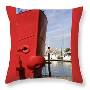 Come To Port Throw Pillow