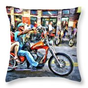 Comfy On Back Throw Pillow