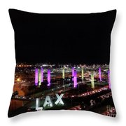 Coming And Going In The Heart Of L A At Night-time Throw Pillow