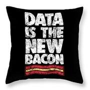 Computer Big Data Bacon Geek Pun Apparel Throw Pillow