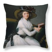Comtesse De La Chatre Later Marquise De Jaucourt  Throw Pillow