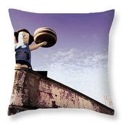 Coney Island Remnants Of Bygone Era  Ny  Throw Pillow