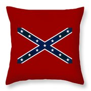 Confederate Stars And Bars T-shirt Throw Pillow